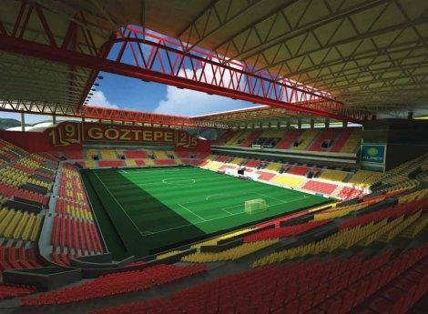 Uno dei progetti avveniristici per il futuro del Göztepe, che spera di avere un nuovo impianto per sognare un ritorno ai fasti degli anni '60.