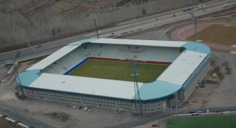 """Lo stadio Kazim Karabekir, vero e proprio gioiello di Erzurum. Costruito """"all'inglese"""", è ora casa dell'Erzurum BB."""